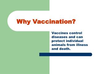 Why Inoculation?