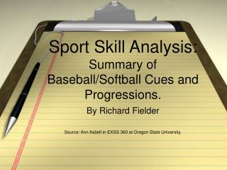 Sport Ability Investigation: Rundown of Baseball/Softball Signs and Movements.