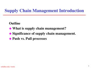 Inventory network Administration Presentation