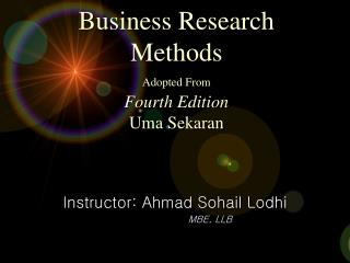 Business Research Strategies Embraced From Fourth Version Uma Sekaran