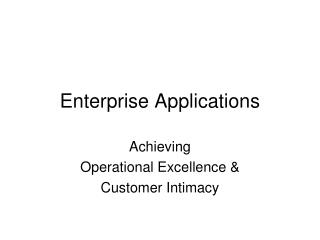 Endeavor Applications