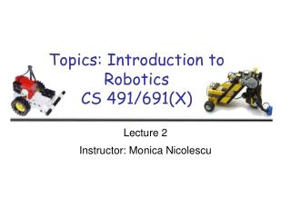 Themes: Prologue to Mechanical autonomy CS 491/691(X)