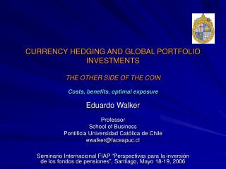 Money Supporting AND Worldwide PORTFOLIO Ventures THE Opposite side of THE COIN Costs, advantages, ideal introduction