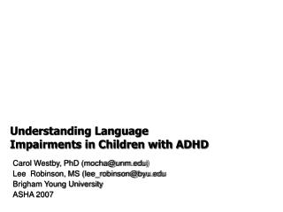 Understanding Dialect Weaknesses in Kids with ADHD