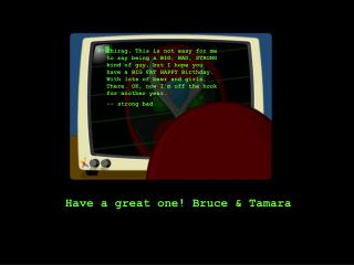 Have an awesome one! Bruce and Tamara