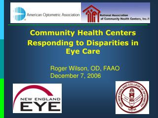 Group Wellbeing Focuses 	Responding to Abberations in Eye Care