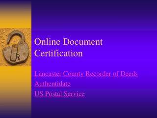 Online Record Accreditation