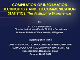 Assemblage OF Data Innovation AND Telecom Measurements: The Philippine Experience