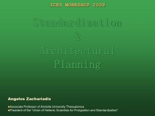 Frosts WORKSHOP 2008 Institutionalization and Structural Arranging