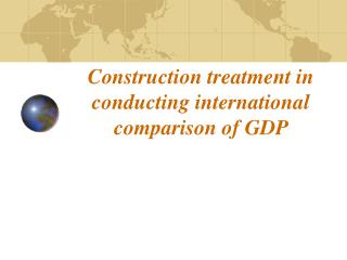 Development treatment in conveying i nternational examination of Gross domestic product