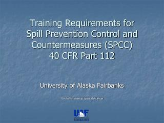 Preparing Necessities for Spill Aversion Control and Countermeasures (SPCC) 40 CFR Section 112