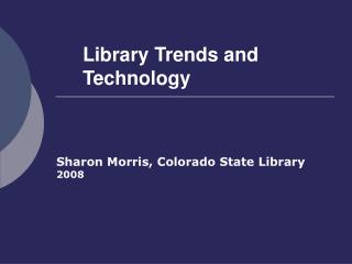 Library Patterns and Innovation