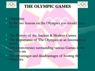 THE OLYMPIC Amusements