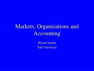 Markets, Associations and Bookkeeping