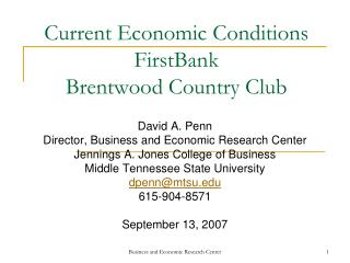 Current Financial Conditions FirstBank Brentwood Nation Club