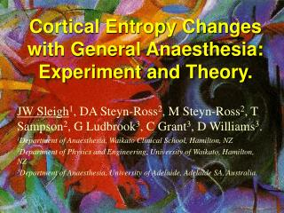 Cortical Entropy Changes with General Anesthesia: Analysis and Hypothesis.