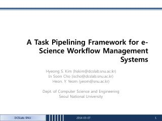 An Errand Pipelining Structure for e-Science Work process Administration Frameworks