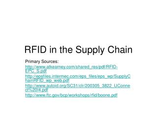 RFID in the Production network