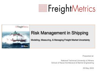 Hazard Administration in Transportation Demonstrating, Measuring, and Overseeing Cargo Market Instability