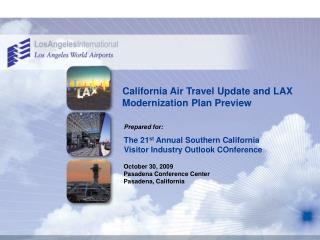 California Air Travel Overhaul and Remiss Modernization Arrangement Sneak peak