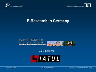E-Research in Germany