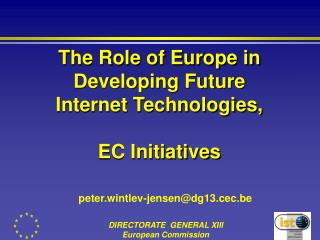 The Part of Europe in Creating Future Web Innovations, EC Activities
