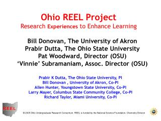 Prabir K Dutta, The Ohio State College, PI Bill Donovan , College of Akron, Co-PI Allen Seeker, Youngstown State College