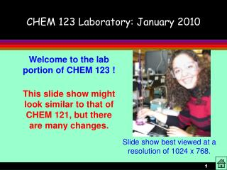 CHEM 123 Research center: January 2010