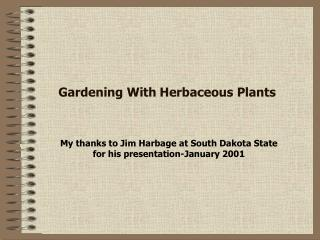 Cultivating With Herbaceous Plants