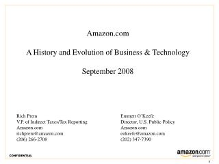 Amazon A History and Advancement of Business and Innovation September 2008