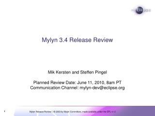 Mylyn 3.4 Discharge Audit