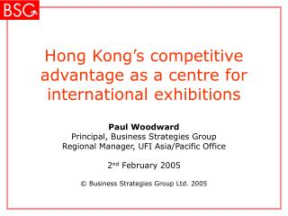 Hong Kong's upper hand as a middle for universal presentations