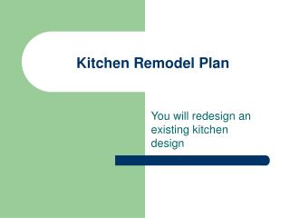 Kitchen Redesign Arrangement