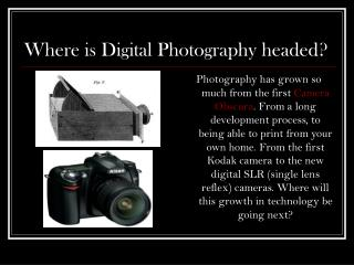 Where is Computerized Photography headed?