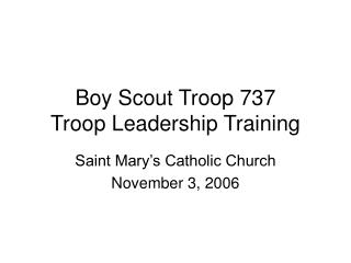 Cub scout Troop 737 Troop Initiative Preparing