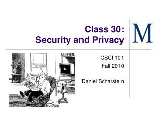 Class 30: Security and Protection