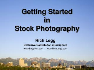 Beginning in Stock Photography