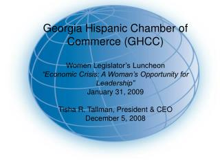 "Georgia Hispanic Assembly of Business (GHCC) Ladies Administrator's Lunch meeting ""Financial Emergency: A Lady's Chance"