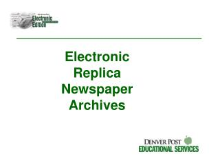 Electronic Reproduction Daily paper Documents