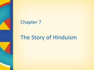 Part 7 The Account of Hinduism