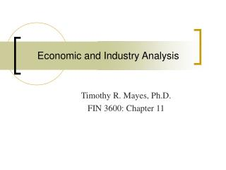 Financial and Industry Investigation