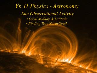 Yr. 11 Material science - Stargazing Sun Observational Movement