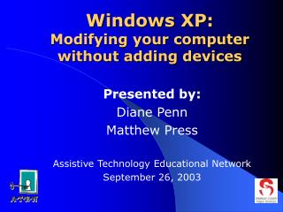 Windows XP: Adjusting your PC without including gadgets