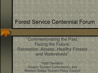 Woods Administration Centennial Gathering