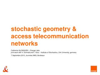 stochastic geometry and access telecom systems