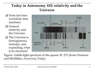 Today in Stargazing 102: relativity and the Universe
