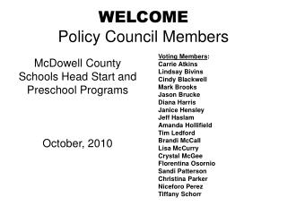 WELCOME Strategy Board Individuals
