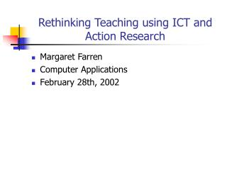 Reconsidering Showing utilizing ICT and Activity Research