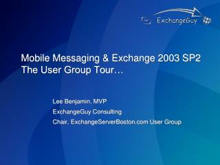 Versatile Informing and Trade 2003 SP2 The Client Bunch Visit