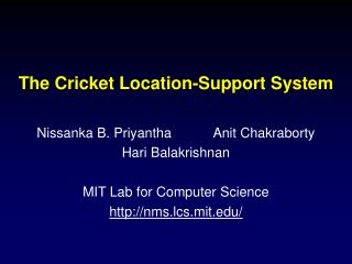 The Cricket Area Emotionally supportive network